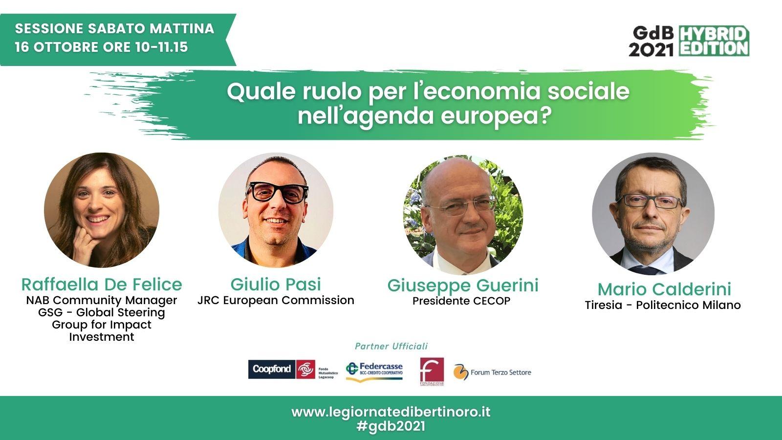 Quale Ruolo Per L'economia Sociale Nell'Agenda Europea?